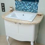 Столешница для ванной из искусственного камня