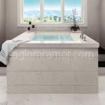 ванная из белого искусственного камня